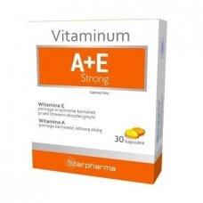 A E vitaminai Strong 30 kapsulių Starpharma