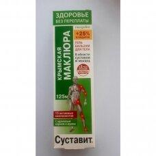 Kūno kremas Sustavit su Krymo Makliūra (šilkmedis) 125 ml.