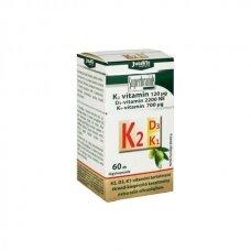 Maisto papildas K2+D3+K1 vitaminas 60 kapsulių JutaVit