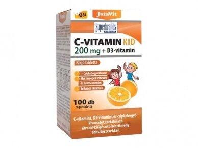 Maisto papildas C vitaminas VAIKAMS 200 mg 100 tab.